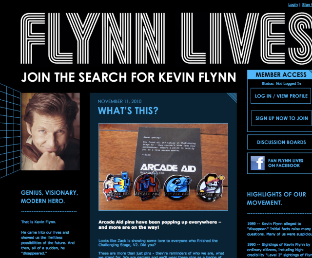 Screen Shot from FlynnLives.com